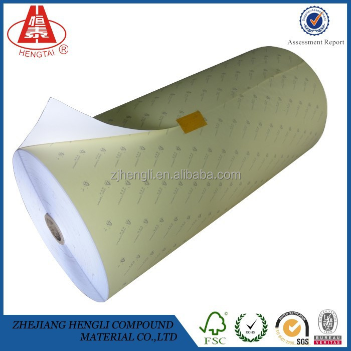 2015 Hengtai Art Paper <strong>Roll</strong> of Adhesive Label White Sticker Label Coated Paper (customized)