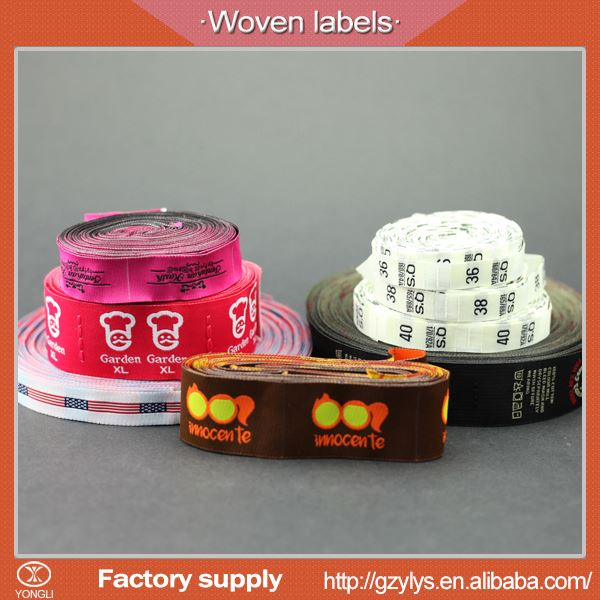 High density fabric custom woven textile labels for t-shirt