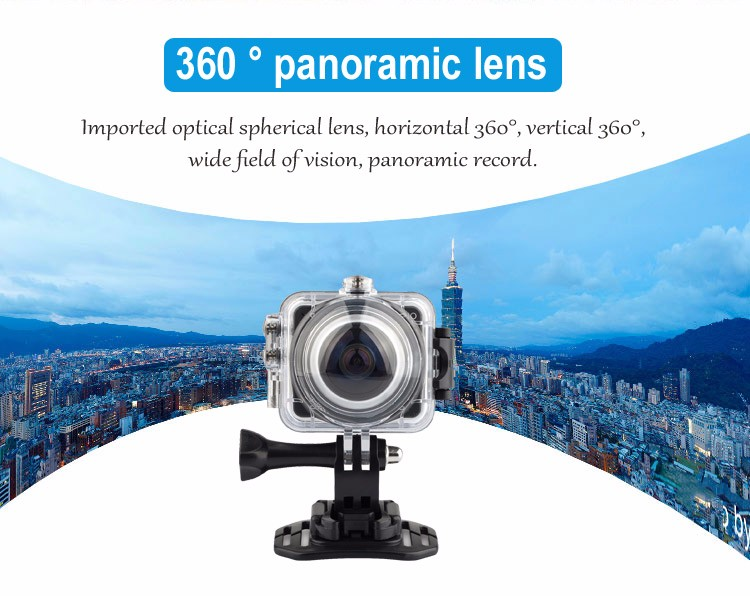 7G lens Allwinner V3 chipset WiFi control panoramic 360 vr camera for mobile phone