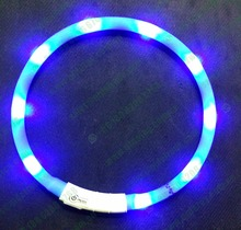 70CM USB rechargeable Dog LED glowing necklace Colar