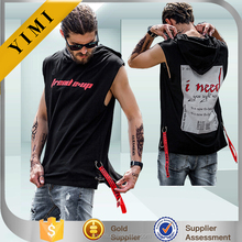 new fashion Sleeveless summer hoodies top tees Oversized street wear hip hop kanye west Justin Bieber men T shirts