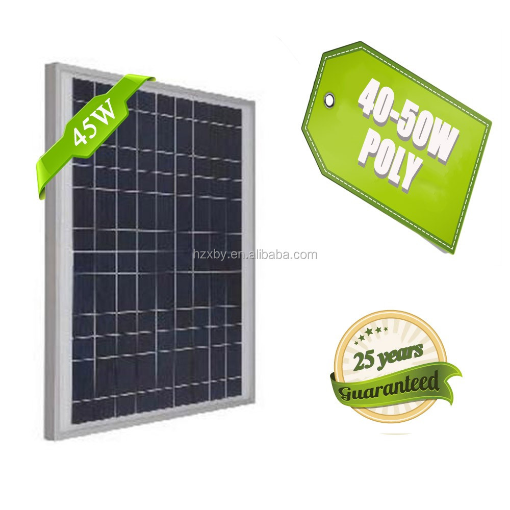 high quality 45W 50w poly solar module with batteries