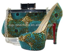 African wax print shoes and purse/african fabrics pums/ wax print covered shoes