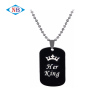 Wholesale custom anodized aluminum double sided dog tag