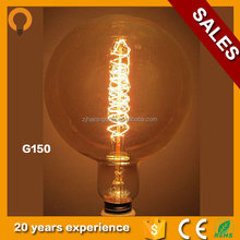 G150 Vintage 230v 40w edison light bulb Retro Filament Edison bulb Antique Lamp Home Decor