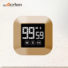 rose gold digital touch screen kitchen timer