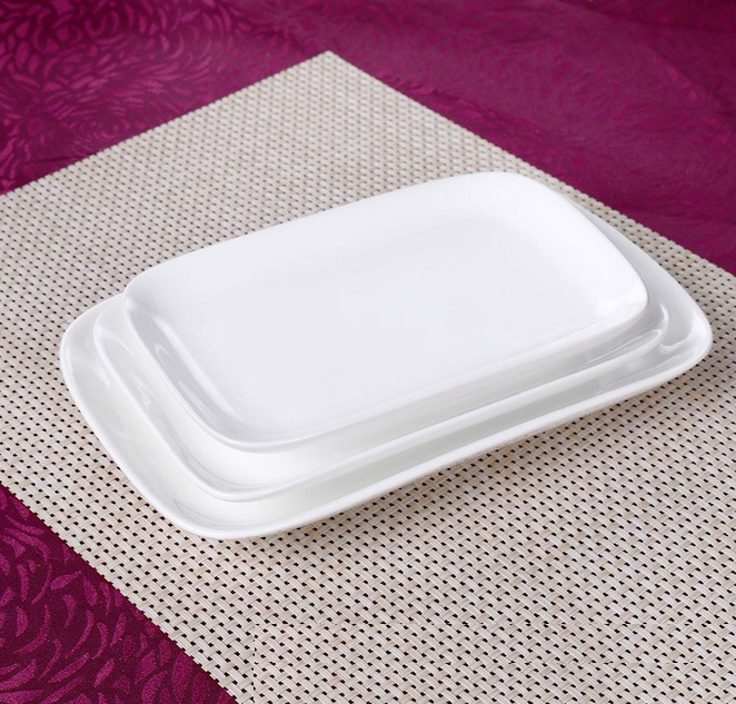 white porcelain <strong>plate</strong> saucer dinnerware white rectangle china <strong>plates</strong> 4.5''-12'' salad cake dishes hotel sugar tray