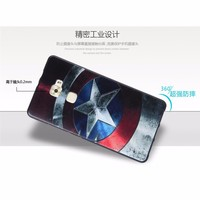 3D Stereo Relief Painting Back Covers Cell Phone Cases Cartoon Silicon Protective Bag for Huawei Mate S