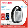LED Camping Lamp with FM Radio & MP3 & Mobile Charger & Dry Batteries (WRS-6012LM)