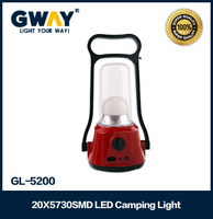 red body led camping lantern rechargeable emergency battery(4V,2500mAH)
