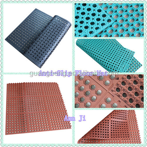 Antislip Rubber Floor Mat, Anti-UV Lawn Protection Rubber Matting