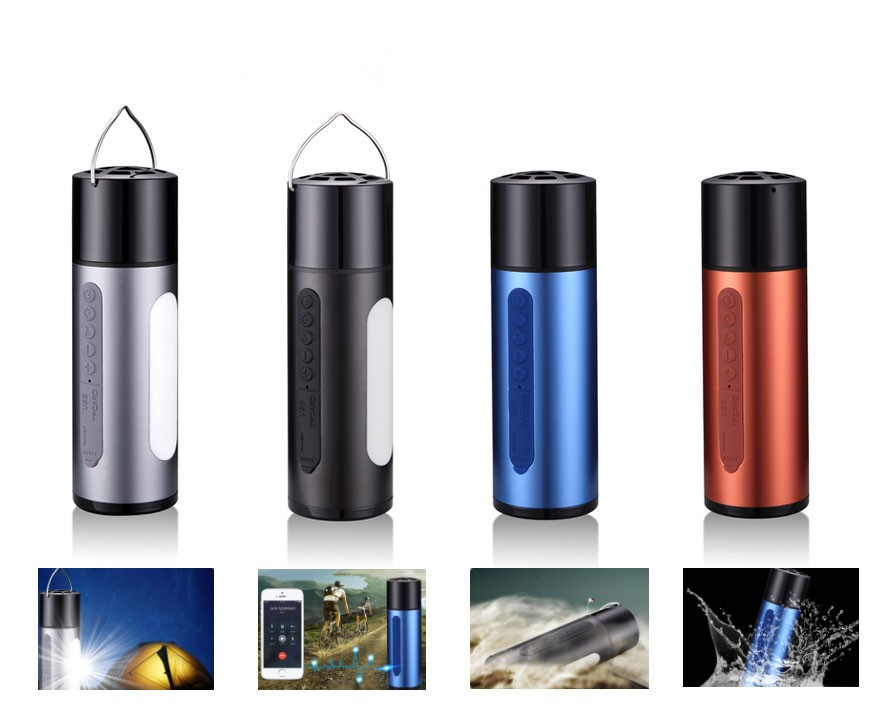 2017 5200mAh with CE FCC ROHS Camping portable bluetooth speaker power bank waterproof mini bluetooth speaker