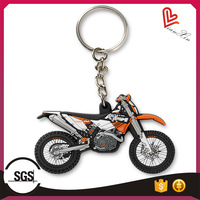 2d custom shaped soft pvc rubber keychains,rubber motorcycle keychains