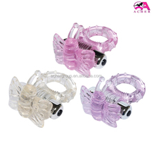 TPE+ABS material rechargeable mini vibrator cock rings male sex device