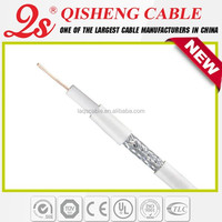 75 ohm RG6 coaxial cable Low db Loss mobile network solution for CATV satellite system CE UL RoHs approved
