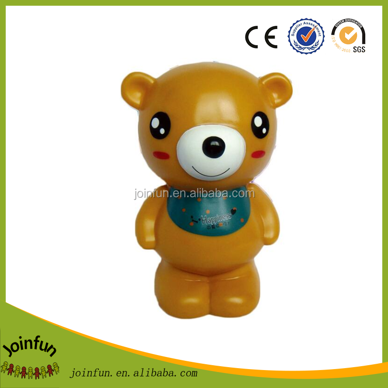 eco - friendly pvc blank coin bank, logo printed custom pvc coin bank, kids plastic piggy bank