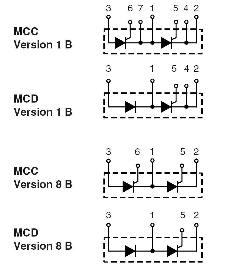ixys thyristor module  diode module ixys mcc26-16io1b