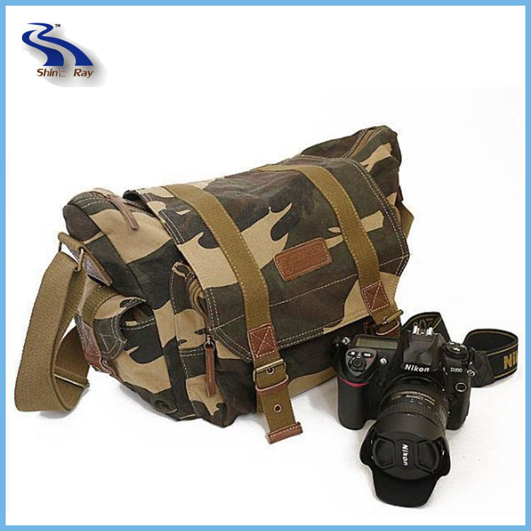 Wholesale Multipurpose Stylish Messenger Bag DSLR Canvas Camera Bag