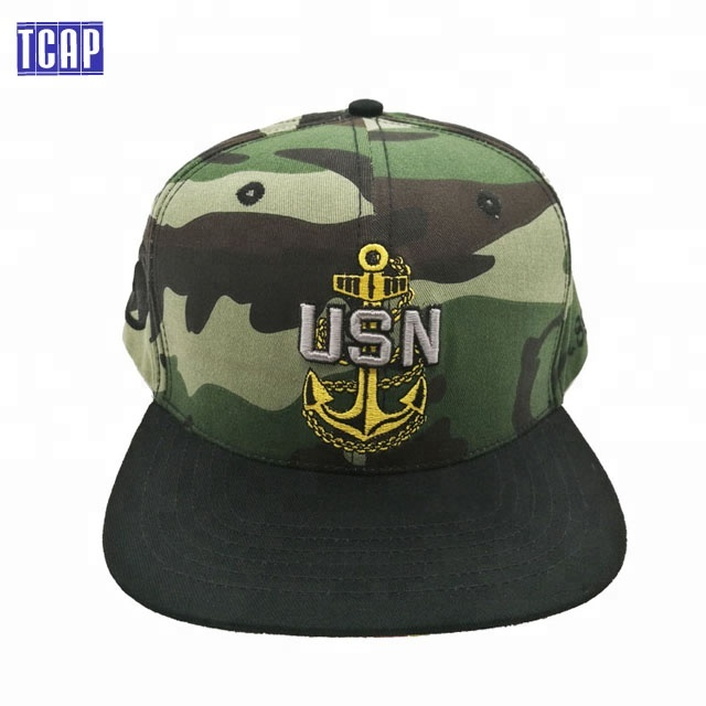 Hot sell China factory cotton material 6 panel military digital printed  bill camouflage snapback cap hat embroidery f49b50d1aee8