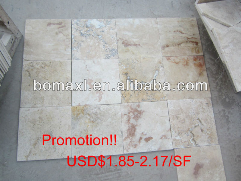 Promotion! Brushed Light Beige Travertine Pavers BMTB-04