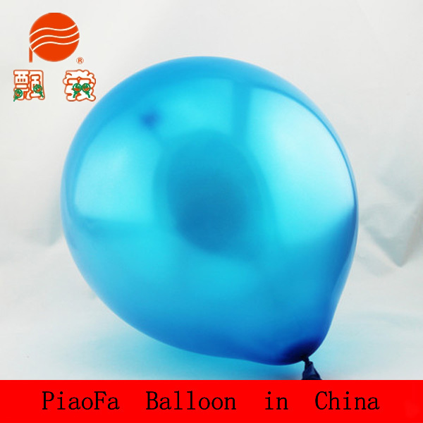 Pearlized party balloon with certificate EN71 100% natural latex material