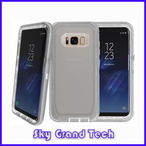De ott Belt Case For Samsung Galaxy S8 <strong>plus</strong> Hard &Soft Rubber Hybrid Armor Case Cover