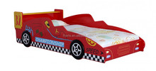 Boys Bedroom Racing Style Furniture Red Racing Single F1 Car beds