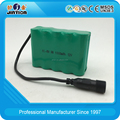 Ni-Mh AA 1000mAh 12v Rechargeable Battery Pack with DC plug