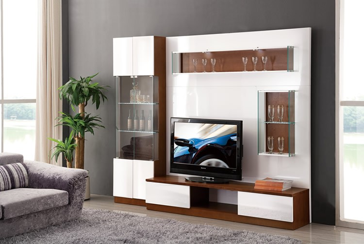 Living room furniture new model modern wooden tv lcd for New model living room furniture