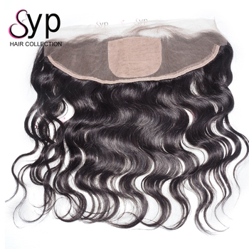 Silk Base Frontal, 13X4 Pre Plucked Wave Full Cuticle Raw Silk Body Wave Top Frontal with Baby Hair