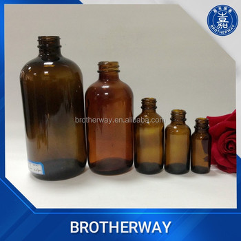 500ml 16oz pharmaceutical amber clear boston glass bottle with cap