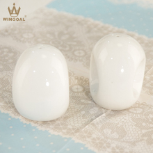 porcelain egg shape salt and pepper shakers for wedding
