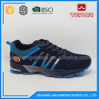 Cheap custom popular light blue breathable running shoes for men 2016