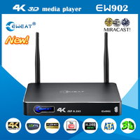 Hot selling streaming player android with realtek 1195 chip 4k tv box