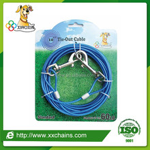 China leading professional high strength pet dog tie-out cable supplier