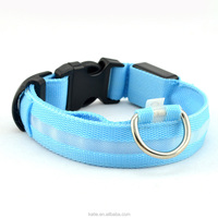 Led Nylon buckle Dog Collar,custom bulk wholesale electric glowing dog collar,