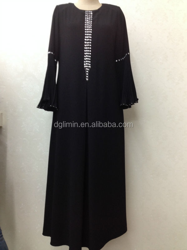 black chiffon simple plain desging 2015 india kaftan
