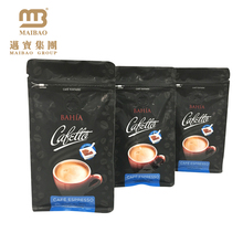 Resealable Zipper Flat Bottom Coffee Bean Packaging Doypack Custom Printing Guangzhou Coffe Bag With Valve