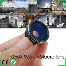 Smartphone Universal External Lens Wide Angle + Macro Lens 10x zoom lens effect for samsung s3 s4 i9500 iphone 4s 5S 5C htc