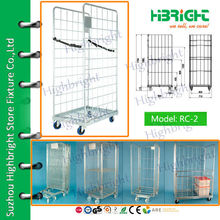warehouse metal storage cages with 4 wheels (500kg)