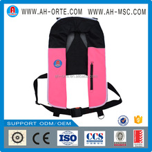 Cheapest Solas approved pfd personal marine automatic inflatable adult paddling Life Preserver Life Jacket Vest for fishing boat
