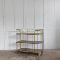 vintage industrial style furniture gold small children book shelf