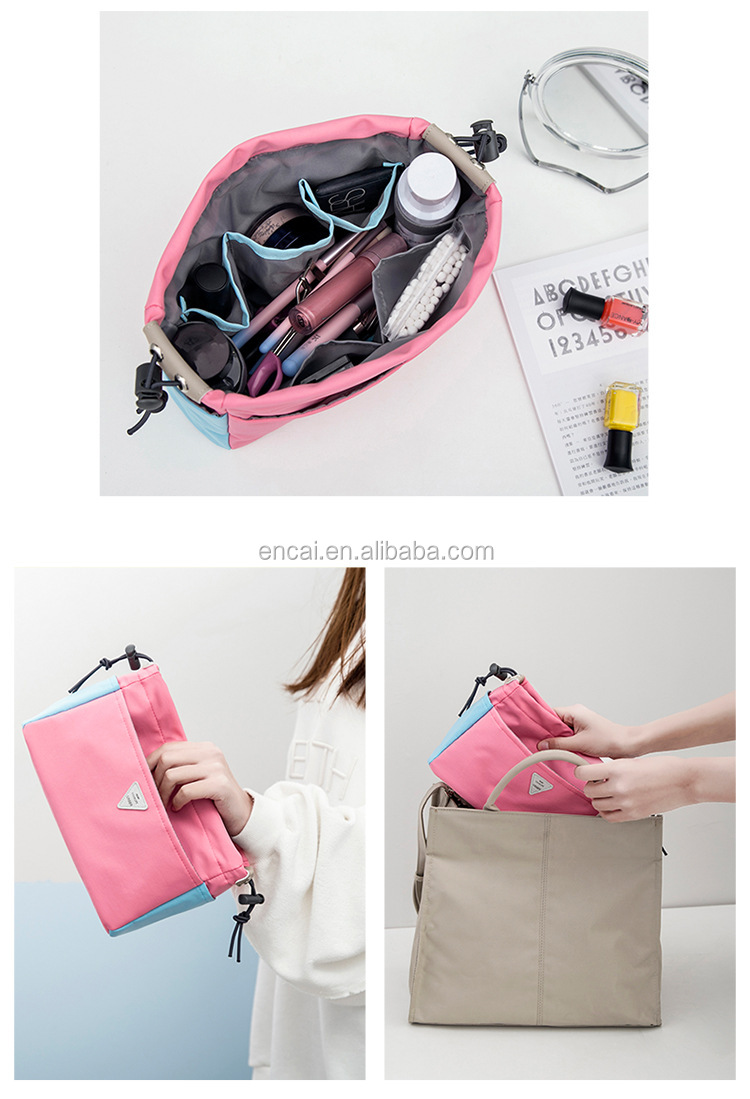 Encai Stylish Colorful Makeup Carry Bag Drawstring Organizer Bags In Bag