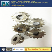 made in china transmission gears,steel wire edm cnc machining gears, the square gear with 16 Tooth