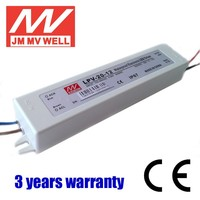 power supply 12v 20W waterproof ip67 single output constant voltage led driver CE 3 years warranty
