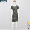 OEM new arrival casual camouflage short dress for women dresses
