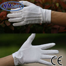 NMSAFETY cotton hand working glove pvc dotted gloves machine making