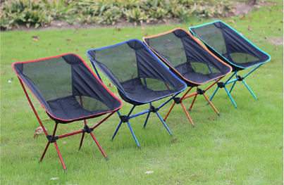 China wholesale folding ultralight camping moon chair, portable outdoor chair