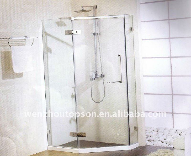 Glass single shower scrren, Modern shower room,tempered glass shower screen