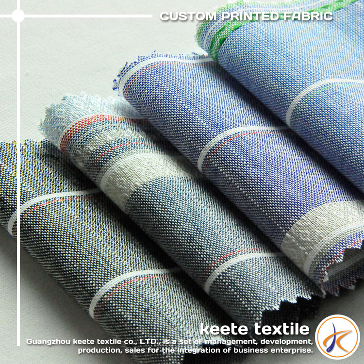 Wholesale high quality yarn dye striped/plaid 100% combed cotton woven fabric
